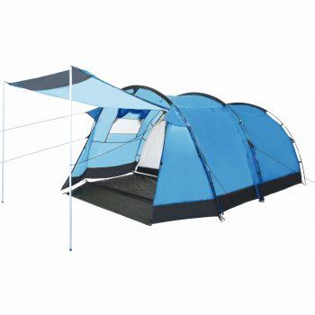 Tunelski šator za kampiranje za 4 osobe plavi