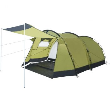 Tunelski šator za kampiranje za 4 osobe zeleni