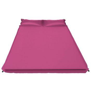 Zračni madrac na napuhavanje s jastukom 130 x 190 cm ružičasti