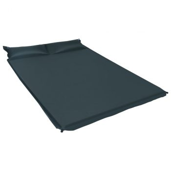 Zračni madrac na napuhavanje s jastukom 130x190 cm tamnozeleni