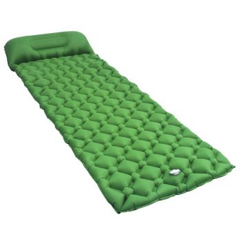 Zračni madrac na napuhavanje s jastukom 58 x 190 cm zeleni