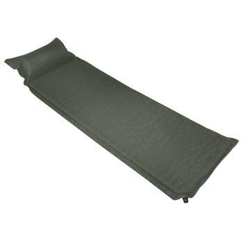 Zračni madrac na napuhavanje s jastukom 66 x 200 cm tamnozeleni