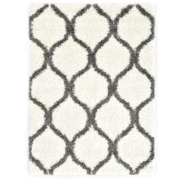 Čupavi berberski tepih PP bež i sivi 140 x 200 cm