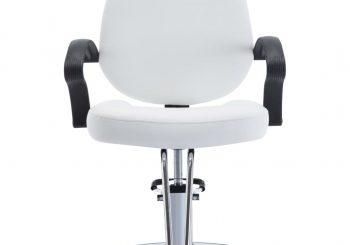 Brijačka stolica od umjetne kože bijela