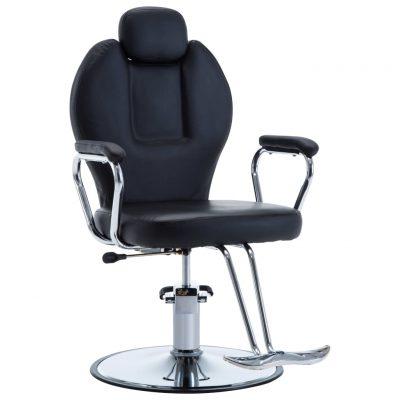 Brijačka stolica od umjetne kože crna