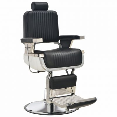 Brijačka stolica od umjetne kože crna 68 x 69 x 116 cm