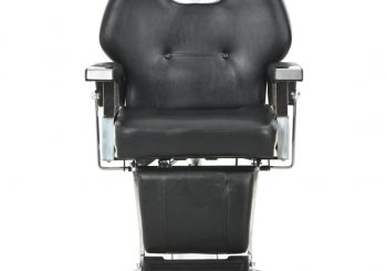 Brijačka stolica od umjetne kože crna 72 x 68 x 98 cm