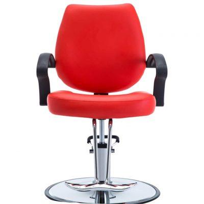 Brijačka stolica od umjetne kože crvena