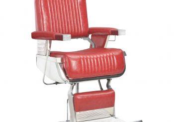 Brijačka stolica od umjetne kože crvena 68 x 69 x 116 cm