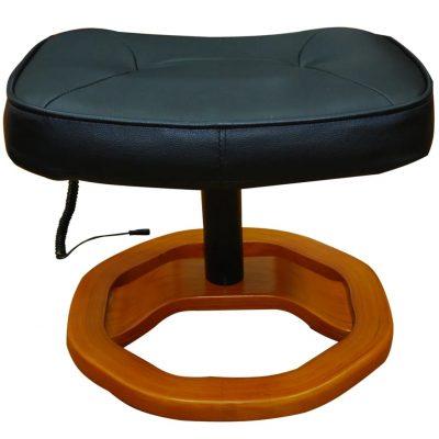 Fotelja za masažu crna osloncem za noge