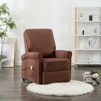 Masažna fotelja od tkanine smeđa