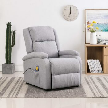 Masažna fotelja od tkanine svjetlosiva