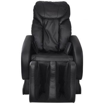 Masažna stolica od umjetne kože crna