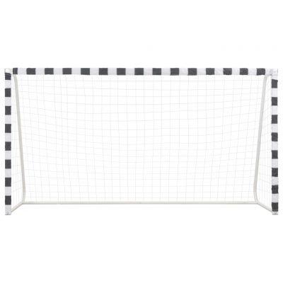 Nogometni gol 300 x 160 x 90 cm metalni crno-bijeli