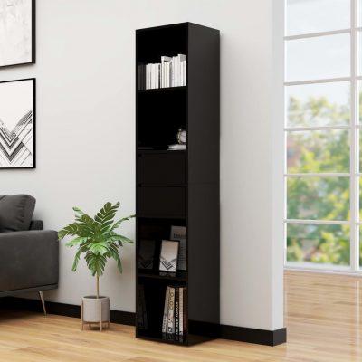 Ormarić za knjige visoki sjaj crni 36 x 30 x 171 cm od iverice