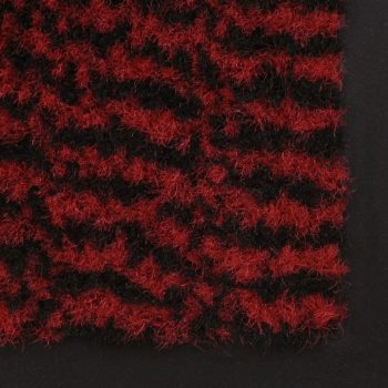 Otirači za prašinu 2 kom pravokutni čupavi 60 x 90 cm crveni