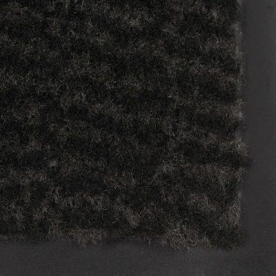Otirači za prašinu 2 kom pravokutni čupavi 80 x 120 cm crni