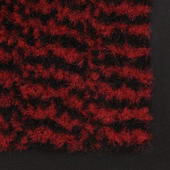 Otirači za prašinu 2 kom pravokutni čupavi 80 x 120 cm crveni