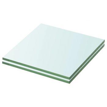 Ploče za police 2 kom staklene prozirne 20 x 15 cm