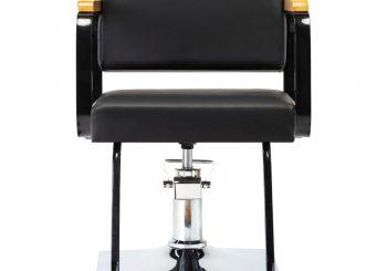 Profesionalna brijačka stolica od umjetne kože crna