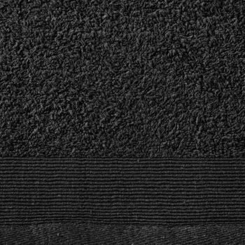 Ručnici za ruke 2 kom pamučni 450 gsm 50 x 100 cm crni