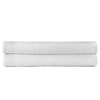 Ručnici za saunu 2 kom pamučni 450 gsm 80 x 200 cm bijeli