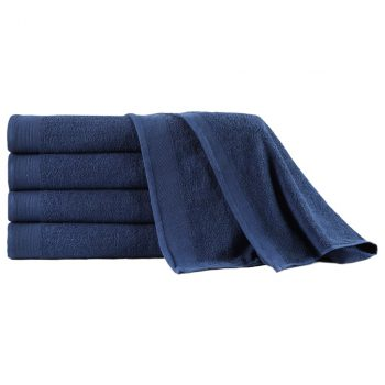Ručnici za saunu 5 kom pamučni 450 gsm 80 x 200 cm modri