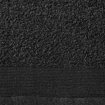 Set kupaonskih ručnika 2 kom pamučni 450 gsm 100 x 150 cm crni