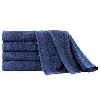 Set kupaonskih ručnika 5 kom pamučni 450 gsm 100 x 150 cm modri