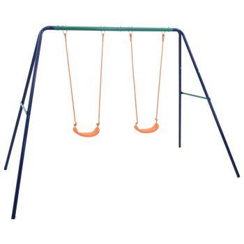 Set ljuljački s 2 sjedala čelični