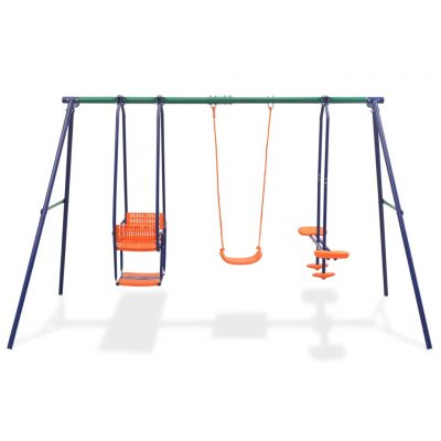 Set ljuljački s 5 sjedala narančasti