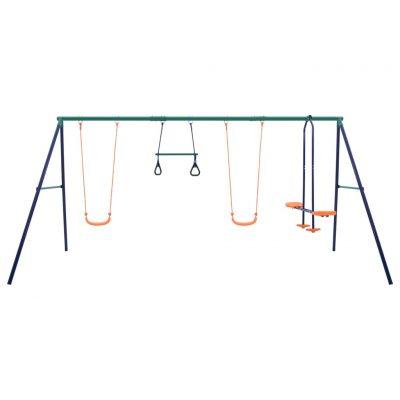 Set ljuljački s gimnastičkim karikama i 4 sjedala čelični