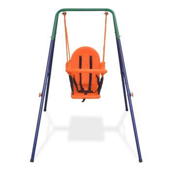 Set s ljuljačkom za dijete sa zaštitnim pojasom narančasti