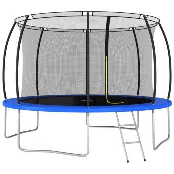 Set trampolina okrugli 366 x 80 cm 150 kg