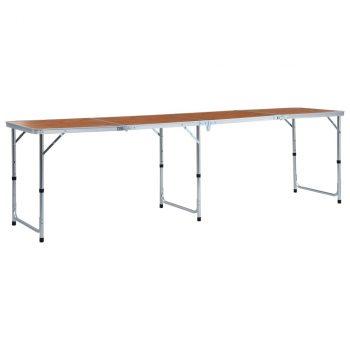 Sklopivi stol za kampiranje aluminijski 240 x 60 cm