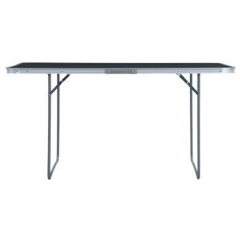 Sklopivi stol za kampiranje sivi aluminijski 180 x 60 cm