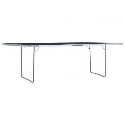 Sklopivi stol za kampiranje sivi aluminijski 240 x 60 cm