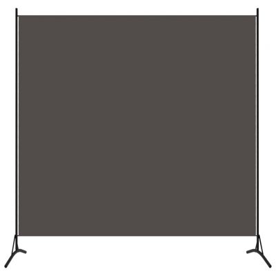 Sobna pregrada s 1 panelom antracit 175 x 180 cm