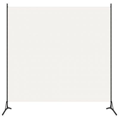 Sobna pregrada s 1 panelom bijela 175 x 180 cm