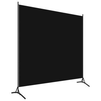 Sobna pregrada s 1 panelom crna 175 x 180 cm