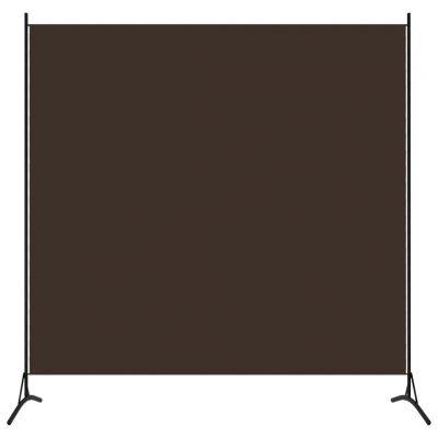 Sobna pregrada s 1 panelom smeđa 175 x 180 cm