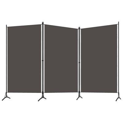 Sobna pregrada s 3 panela antracit 260 x 180 cm