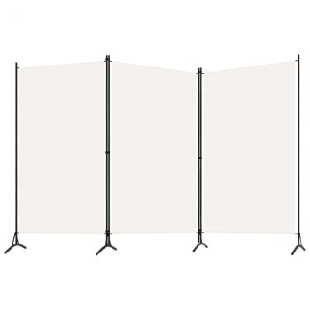 Sobna pregrada s 3 panela bijela 260 x 180 cm