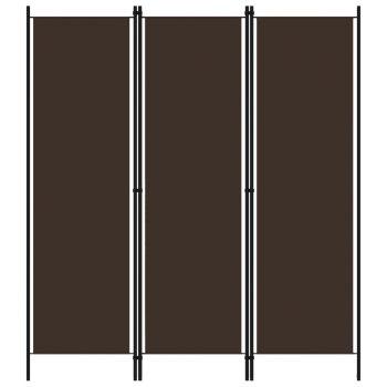 Sobna pregrada s 3 panela smeđa 150 x 180 cm