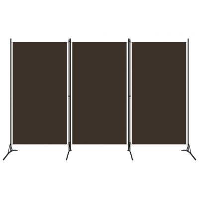 Sobna pregrada s 3 panela smeđa 260 x 180 cm