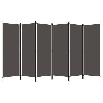 Sobna pregrada sa 6 panela antracit 300 x 180 cm
