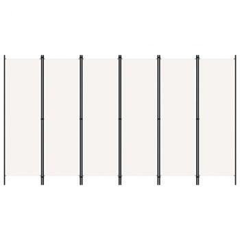 Sobna pregrada sa 6 panela bijela 300 x 180 cm
