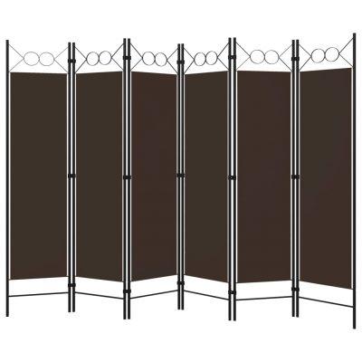 Sobna pregrada sa 6 panela smeđa 240 x 180 cm