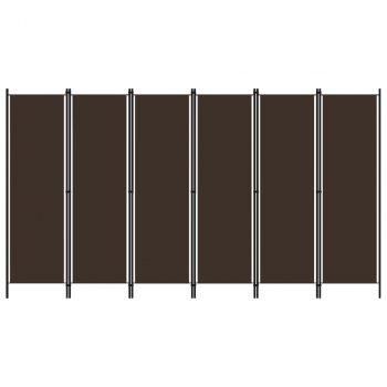Sobna pregrada sa 6 panela smeđa 300 x 180 cm