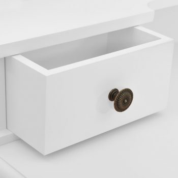 Toaletni stolić sa stolcem bijeli 80x69x141 cm drvo paulovnije